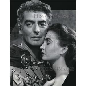 "1953 Press Photo Victor Mature & Jean Simmons in ""Androcles and Lion"""