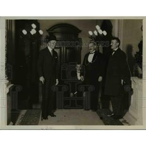 1931 Press Photo M von Hoesd, M Briand & M Laval Meet With Ministry of Interior