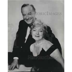 1963 Press Photo Helen Hayes and Maurice Evans in A Program for Two Players