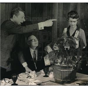 1966 Press Photo Danny Kaye Vera Larson and William Carr