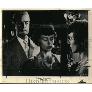 Press Photo Gunnar Bjornstrand and Harriet Andersson in Dreams