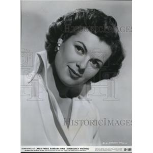 1951 Press Photo Barbara Hale stars in Columbia Pictures in Emergency Wedding.