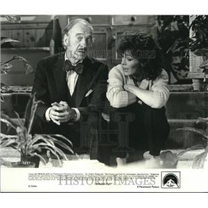 1980 Press Photo David Niven & Lesley Anne Down star  in Rough Cut