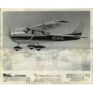 1962 Press Photo Cessna Sky hawk 130 MPH Cruising Speed 145 HP Engine