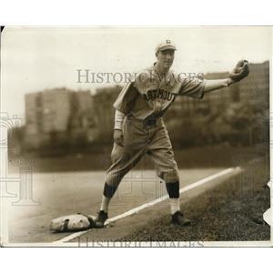 1929 Press Photo Bob Walsh Dartmouth University baseball 2nd baseman - nes40806