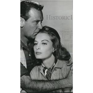 1963 Press Photo William Holden And Capucine In The Lion