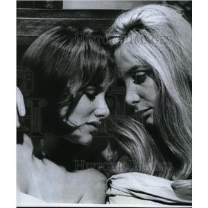"1968 Press Photo Essie Persson and Anna Gael in ""Therese and Isabelle"""