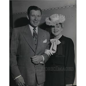 1945 Press Photo George Murphy and Claire Trevor of Hollywood in Portland