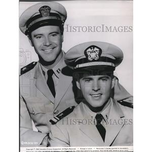 1961 Press Photo Jack Lemmon and Rick Nelson as they star in a series