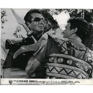 1960 Press Photo Victor Mature and Gabriele Ferzetti in Hannibal