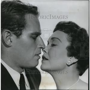 1955 Press Photo Jane Wyman and Charlton Heston in Lucy Gallant