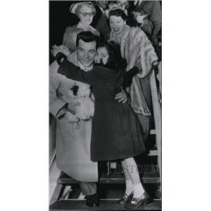1951 Press Photo Mr. and Mrs. Mario Lanza