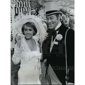 1965 Press Photo Rex Harrison & Jeanne Moreau in The Yellow Rolls Royce