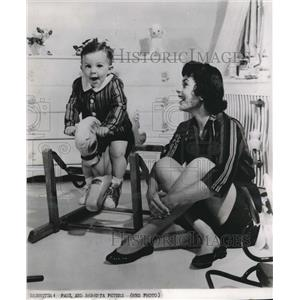 1960 Press Photo Roberta Peters playing with his son
