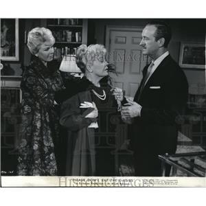 1960 Press Photo Doris Day, Spring Boyington, David Niven Please Dont Eat Daisys