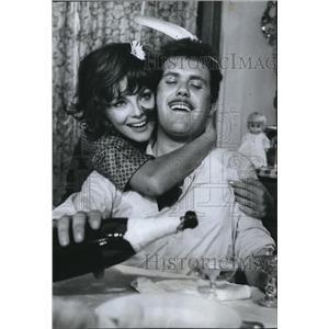 1967 Press Photo Virna Lisi Co-Starring Gastone Moschin In The Birds