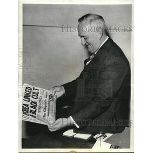 1936 Press Photo Duncan Mc Crea, prosecutor of Wayne Country shown - cva77993