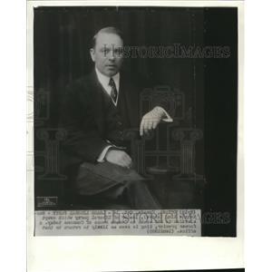 1935 Wire Photo Prime Minister MacKenie King of Canada - cvw06268