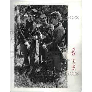1987 Press Photo Doug Lape, Parma Heights; Jim Kopchak, Parma, and Cris Canahan