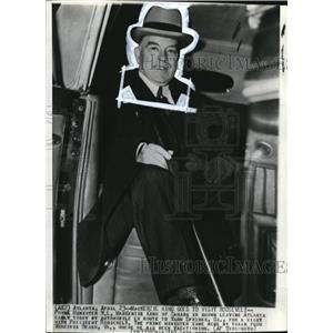 1940 Wire Photo Prime Minister MacKenie King of Canada leaving Atlanta