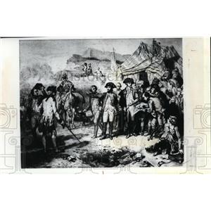 1981 Press Photo Gen Cornwalli surrendered to Gen Washington Battle of Yorktown