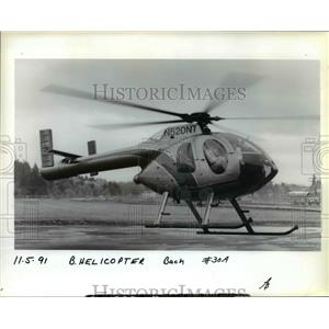 1991 Press Photo Mcdonnell Douglas demonstrates it new no tail rotor MD 520N.