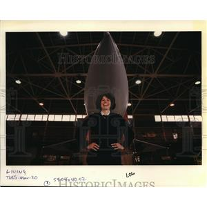 1990 Press Photo Major Deborah Messecar of the 142nd Fighter Interceptor Group