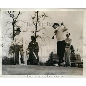 1934 Press Photo JB Ryerson in North & South Amateur Golf at Pinehurst NC