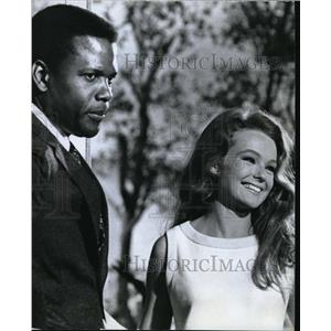1968 Press Photo Sidney Poitier and Katharine Houghton in Guess Who's Coming to