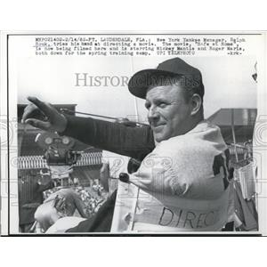 1962 Press Photo NY Yankees manager Ralph Houk at Ft Lauderdale Florida