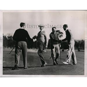 1936 Press Photo PGA golf at Pinehurst NC RP Davidson, CE Sherman - nes42188