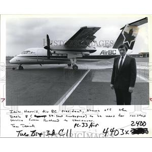 1990 Press Photo AirBC One of the De Havilland Dash-8 Planes that will Fly