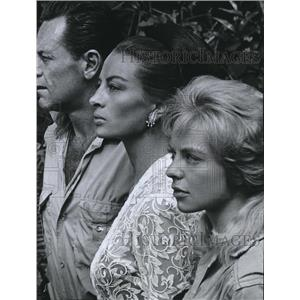 1967 Press Photo William Holden, Capucine & Susannah York in The 7th Dawn