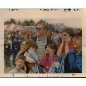 1990 Press Photo Gary & Judi Lawrence at Maxwell House Rose Festival Airshow