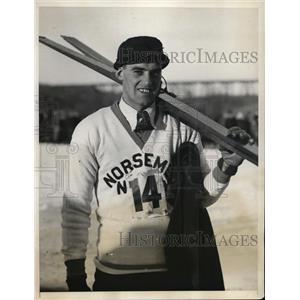 1931 Press Photo Harald Sorenson of Norsemen Ski Club at Orange County NY