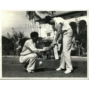 1936 Press Photo Boxer Jim Braddock & golfer Johnny Revolta Coral Gables Fla