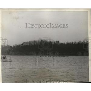 1930 Press Photo Columbia University crew vs US Naval Academy at Annapolis