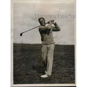 1929 Press Photo John Dawson in Amateur Golf Championship at Sandwich