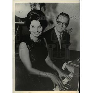 1961 Press Photo Sophia Loren & Steve Allen on The New Steve Allen Show