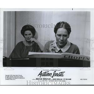 1978 Press Photo Ingrid Bergman and Live Ullmann in Autumn Sonata - cvp80781