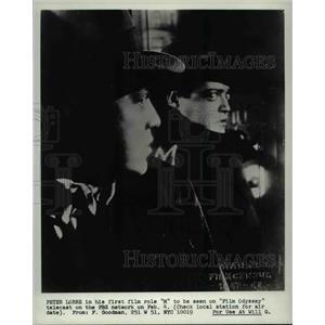 1971 Press Photo Peter Lorre in Film Odyssey - cvp76865