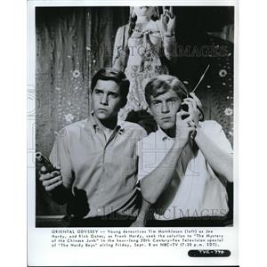 Press Photo NBCpresents The Hardy Boys with Rick Gates and Tim Matthieson