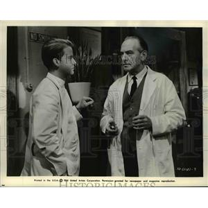 1961 Press Photo Dick Clark, Fredric March in The Young Doctors - cvp76995