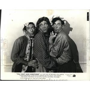 1937 Press Photo Ritz Brothers in You Can't Have Everything - cvp80459
