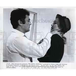 1969 Press Photo Tony Curtis and Carolyn Conwell in The Boston Strangler