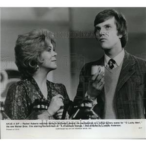 1973 Press Photo Rachel Roberts & Malcolm McDowell in A Clockwork Orange