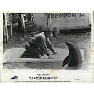 1973 Press Photo George C Scott & Trish Van Dever in Day of the Dolphin