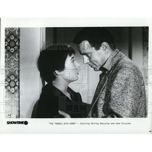 1955 Press Photo John Forsythe & Shirley MacLaine in The Trouble with Harry - 38