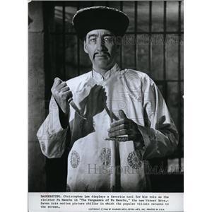 1968 Press Photo Christopher Lee in The Vengence of Fu Manchu - cvp80111