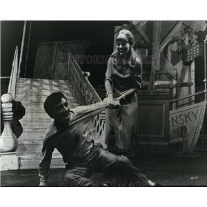 1969 Press Photo Norman Wisdom and Britt Ekland The Night They Raided Minsky's